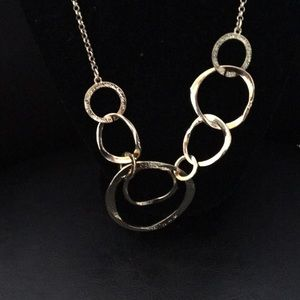 Badgley Mischka abstract necklace gold new